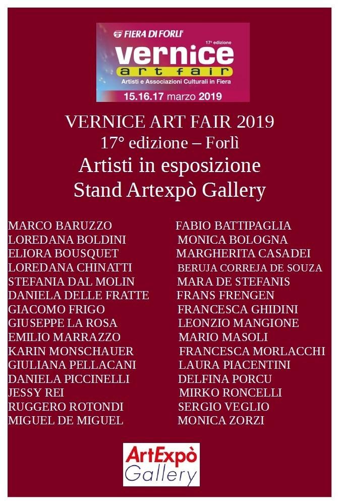 artisti in esposizione alla fiera di Forlì tra cui DiDiF