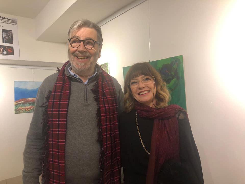 l'artista DiDiF, e il responsabile della galleria di Boston Beppe Simon