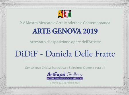 Attestato Esposizione ad Arte Genova 2019