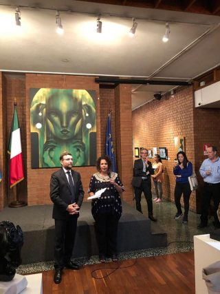 inaugurazione mostra tempo e spazio in guatemala funzionari istituto